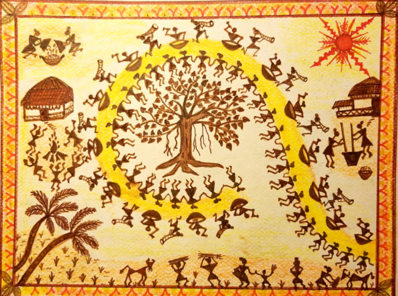Warli Art by Simi