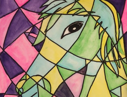 Depicting Cubism with Water Colors