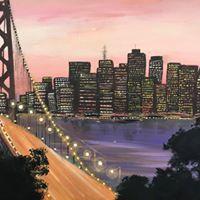 Bay bridge Acrylic painting